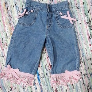 Other - Denim Jean Capris with Flowers